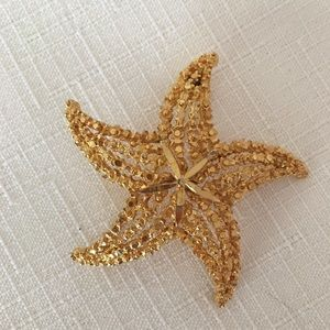 Shimmery Starfish Brooch by BSK Lovely!